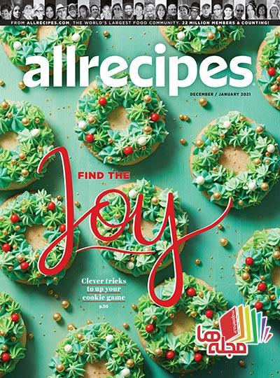 دانلود مجله آشپزی Allrecipes - دسامبر 2020 / ژانویه 2021